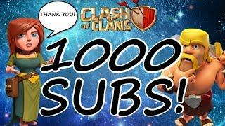 Clash of Clans - 1000 Subscribers video - North Watchers vs HT Hooligans Potluck 2017