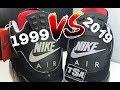 2019 VS 1999 AIR JORDAN 4 IV BRED CEMENT RETRO SNEAKER COMPARISON REVIEW
