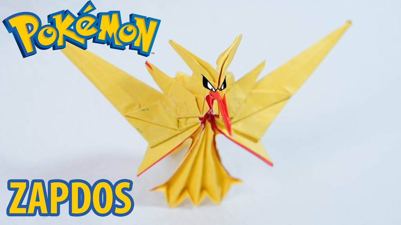 Origami Pikachu Pokemon (Ax&PaperKawaii) Paper Folding / Papier ... | 720x1280