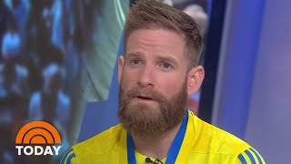 Marine Who Crawled Across Boston Marathon Finish Line Opens Up | TODAY