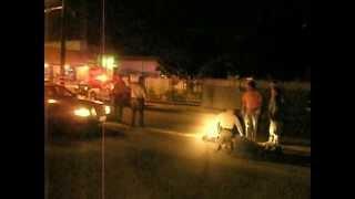 Bar fight , Bum Attack Cops