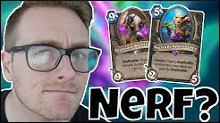 NICE NERF LOL (Necrium Apothecary is NUTS in ODD ROGUE) | Descent of Dragons | Wild Hearthstone