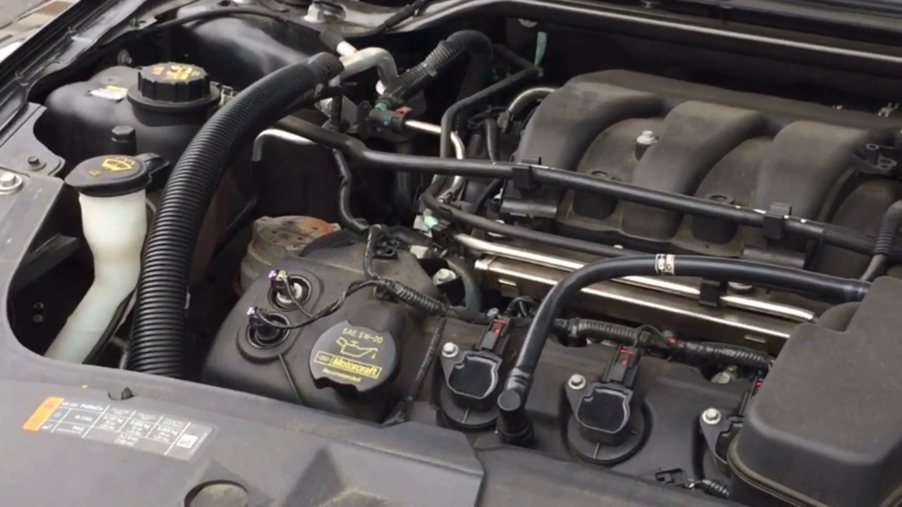 How To Replace Serpentine Belt 2013 Ford Taurus 3 5l Youtube
