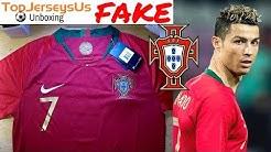 Fake RONALDO 2018 PORTUGAL World Cup Jersey unboxing⚽🔥Home kit TopJerseysUs.ru