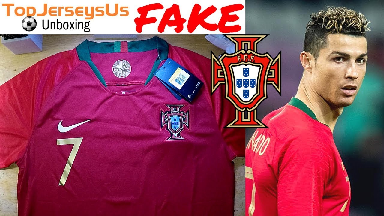 online store 267dc 594a2 Fake RONALDO 2018 PORTUGAL World Cup Jersey unboxing⚽🔥Home kit  TopJerseysUs.ru