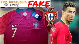 Fake RONALDO 2018 PORTUGAL World Cup Jersey unboxing⚽🔥Home kit TopJerseysUs.ru