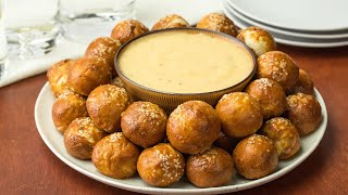 Pretzel Bites with Mustard Cheese