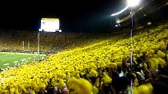 Notre Dame vs Michigan 2011 - Seven Nation Army Chant and Michigan Stadium LOUD