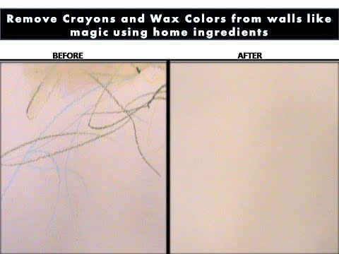 How to remove crayons colors from the walls easily?