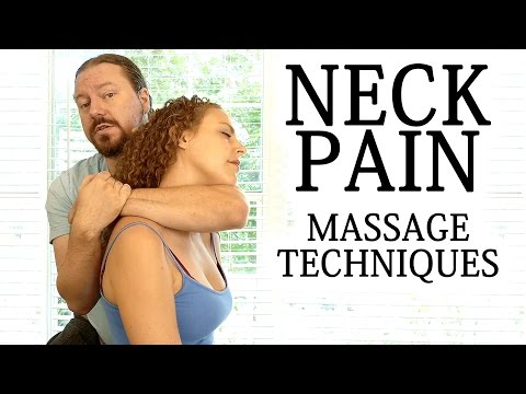 Advanced Massage Techniques for Neck, Shoulder, Upper Back Pain, How to Massage, HD, 60 fps