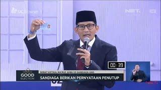 Kritik 3 Kartu Sakti Ma'ruf, Sandi Tunjukkan KTP -  NET. JATIM
