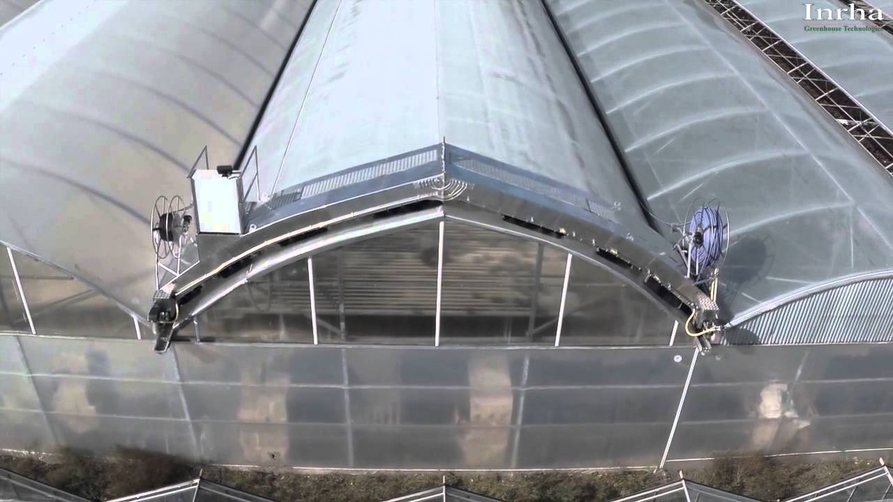 Inrha Greenhouse Roof Washer Youtube