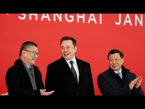Tesla breaks ground on first overseas factory in Shanghai
