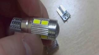 Как разобрать диодные лампочки Т10