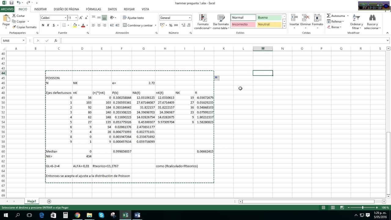 Como pegar una tabla o hoja de calculo de excel en word con las ...