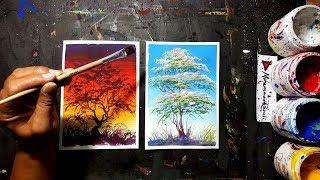 Simple melukis pohon