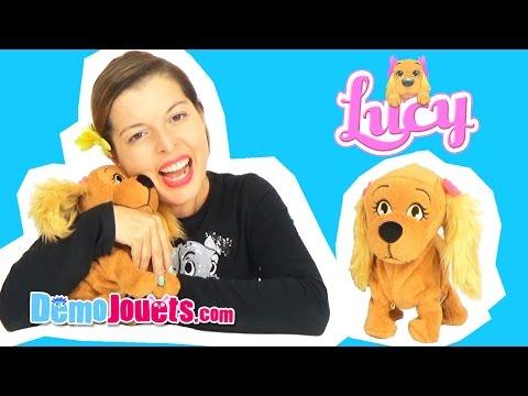 (JOUET) Lucy Le Petit Chien Peluche Interactive IMC Toys - Démo Jouets