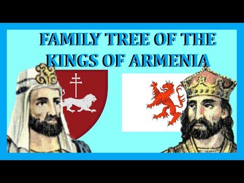 Family Tree Of The Kings Of Armenia (684-1375)