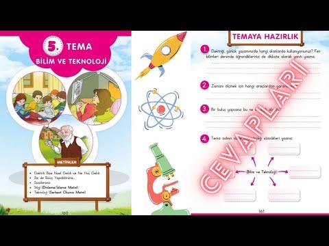 3. Sınıf Türkçe | 5. Tema Bilim ve Teknoloji | 5.Temaya hazırlık Cevapları | say