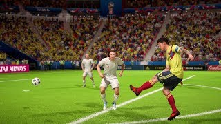 World Cup 2018 - Poland vs Colombia - Group H Full Match Sim (FIFA 18)