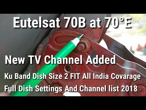 Eutelsat 70B at 70°E Ku Band New TV Channel Added 2018 || Eutelsat 70B at 70°E Full Dish Settings