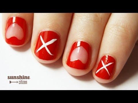 Valentines Day Nail Art Xoxo Youtube