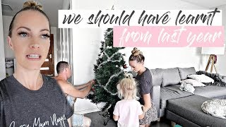 PUTTING UP OUR CHRISTMAS TREE - WE SHOULD HAVE LEARNT FROM LAST YEAR  *AUSSIE MUM VLOGGER*
