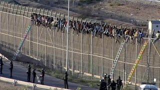 L'assaut des immigrants en Espagne