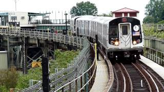 R143 L train entering Atlantic Avenue from Jamaica bound track