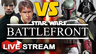 star wars battlefront   duel of the fates all heroes vs villians   live stream part 28
