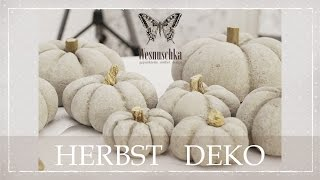 DIY : HERBST DEKO | How to concrete PUMPKINS | autumn decoration | Beton Kürbise