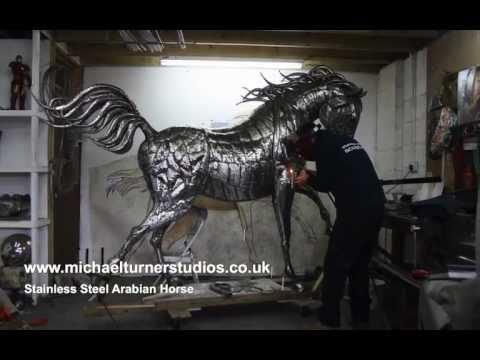 Sculpture - Stainless Steel Arabian Horse