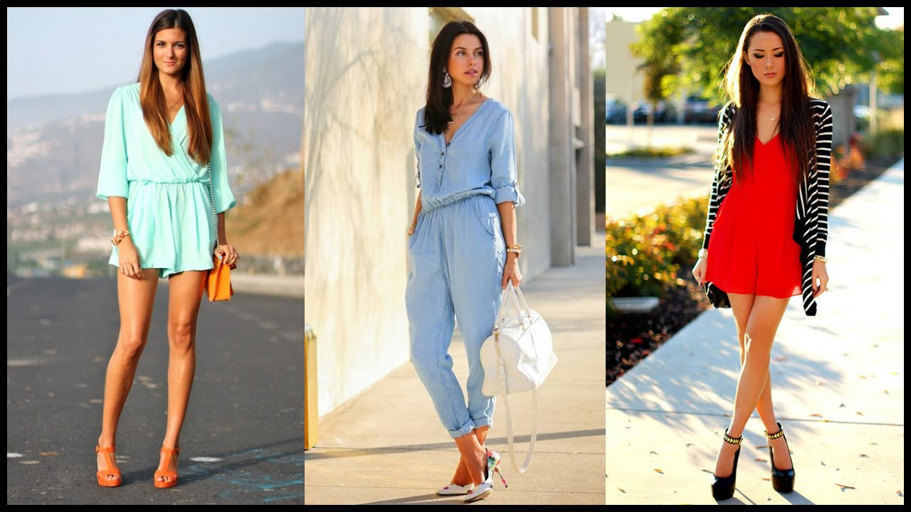 5840743e6498 How to Wear Jumpsuits and Rompers for Spring and Summer - YouTube