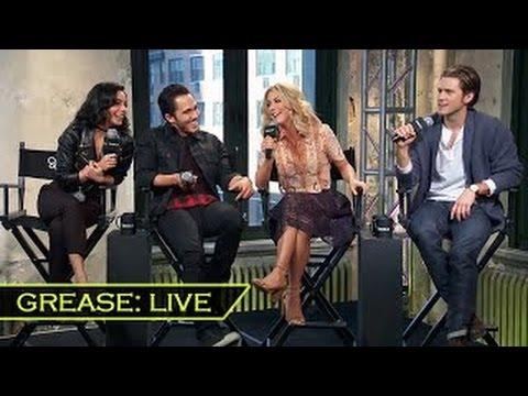 GREASE:LIVE Cast Interview | Julianne Hough, Vanessa Hudgens, Aaron Tveit, Carlos PenaVega