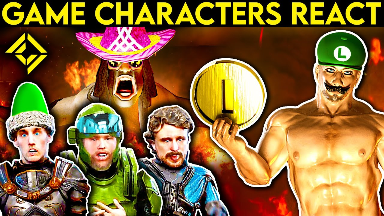 Video Game Characters REACT to Bad & Great Games