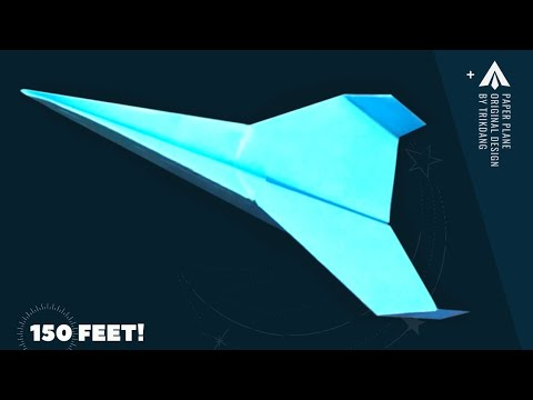 How To Make A Long Distance Paper Airplane Best In The World Galaxy Fighter