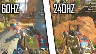 The difference between 60Hz and 240Hz in Apex Legends is unreal...