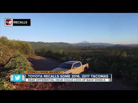 Rear wheels can lock up on recalled Toyota Tacoma pickups