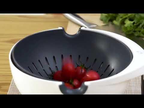 ตะแกรงล้างผักผลไม้ กะละมังสำหรับล้างผักผลไม้