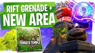 NOUVEAU Patch Fortnite! Temple de la tomate - Rift To Go aka Rift Grenade
