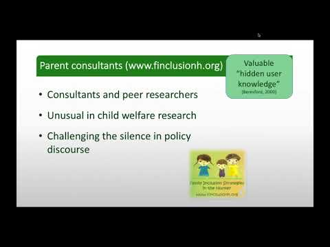 Webinar - Learning from the experiences of parents with children in care