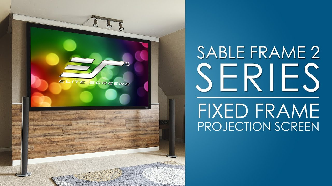 Elite Screens Sable Frame 2 Fixed Frame Projection Screen Youtube