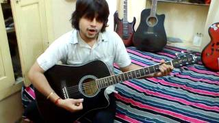 jab koi baat bigad jaye - Guitar and whistle cover by me (Himanshu Sharma)