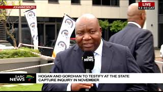 Hogan and Gordhan to testify at the state capture inquiry in November