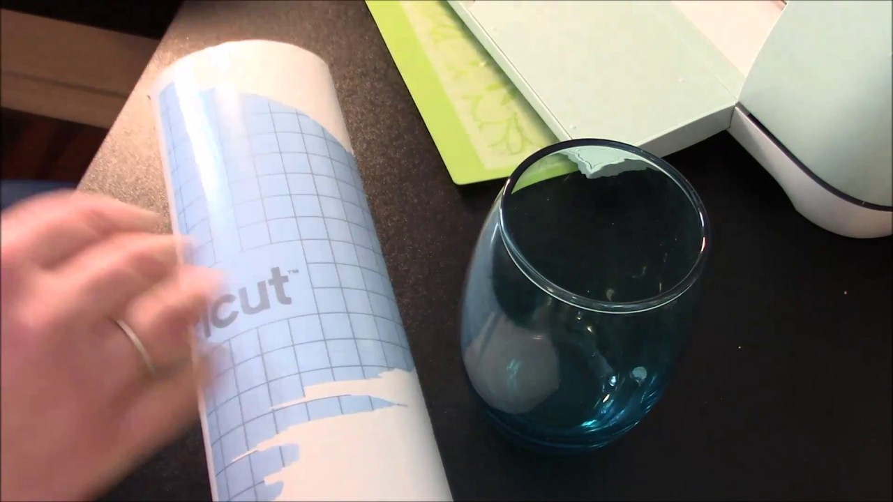 Cricut Stencil Vinyl Reverse Etched Wine Glass Tutorial