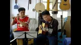 CHÚC EM NGỦ NGON - SÁO TRÚC & GUITAR (MR THÍCH & QUÁCH VĂN THUẦN)- HỢP ÂM CỰC CHUẨN