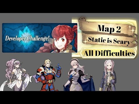 [FEH] Developer Challenge Part 2: Static is Scary All Difficulties - Free 4* Units/No SI