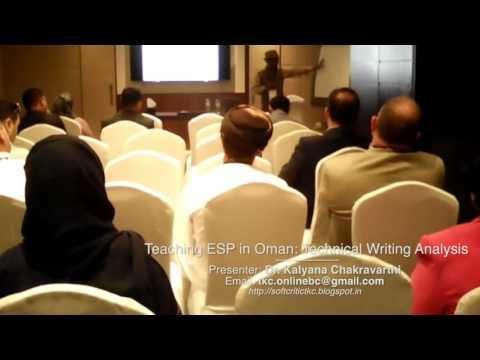 Teaching ESP - TESOL Arabia International Conference, Dubai, UAE, March 2016