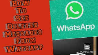 How to see the deleted message || by || Hi tech mafia ||