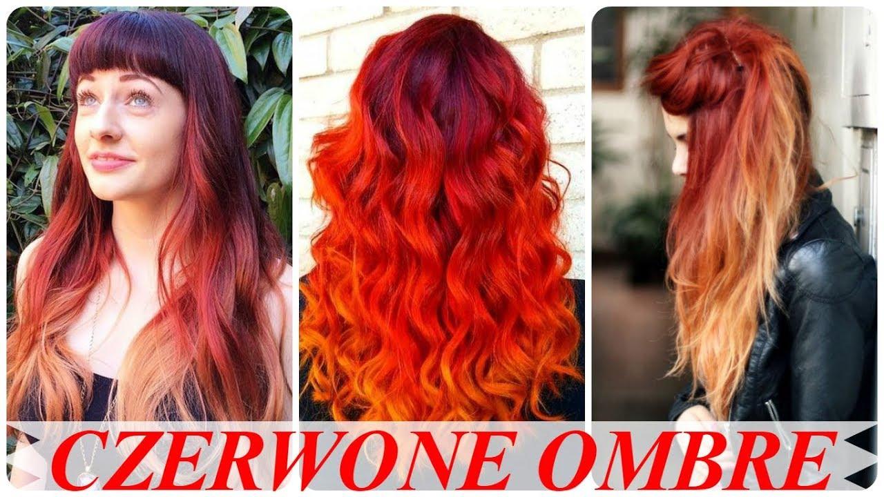 Najlepsze Fryzury Ombre Czerwone Włosy Youtube